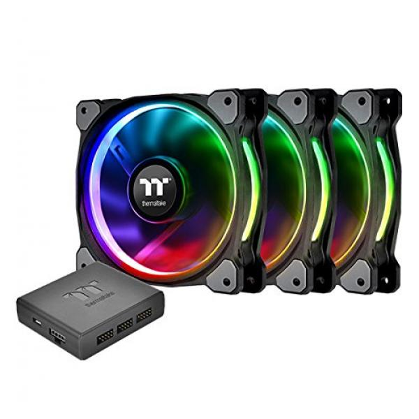 Thermaltake Riing Plus 12 RGB TT Premium Edition - 120MM Cabinet Fan With RGB Controller (Triple Pack)