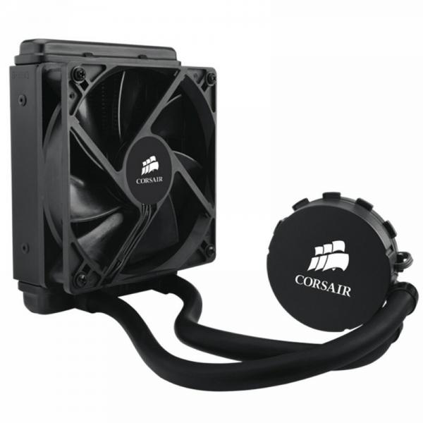 Corsair Hydro Series, H55, 120mm Radiator, Single 120mm PWM fan, Liquid CPU Cooler