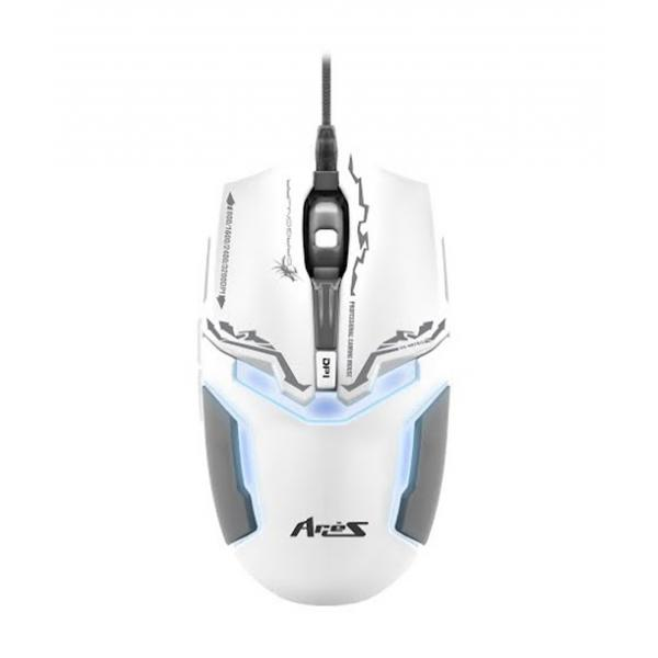 DRAGON WAR GAMING MOUSE ELE-G10 ARIES WHITE WITH 3200 DPI