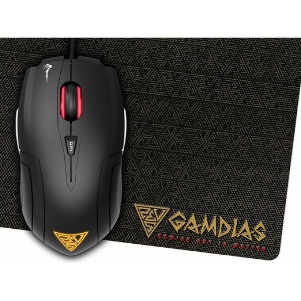 GAMDIAS GAMING MOUSE AND MAT COMBO DEMETER E1 AND NYX E1 WITH 3200 DPI SENSOR