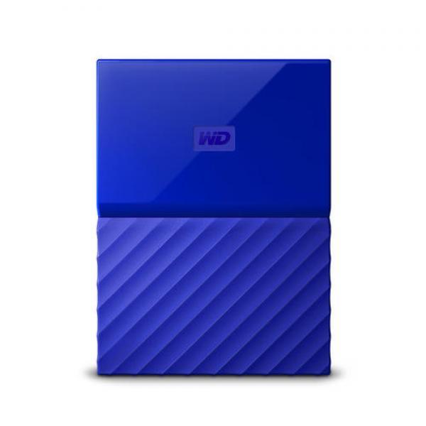 WESTERN DIGITAL EXTERNAL HARD DRIVE 4TB MY PASSPORT BLUE  (WDBYFT0040BBL-WESN)