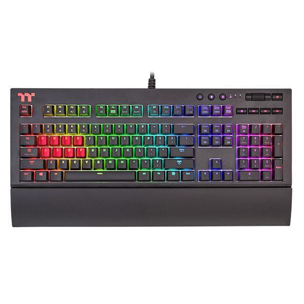 THERMALTAKE MECHANICAL GAMING KEYBOARD TT PREMIUM X1 CHERRY MX BLUE SWITCHES - WITH RGB BACKLIGHT (KB-TPX-BLBRUS-01)
