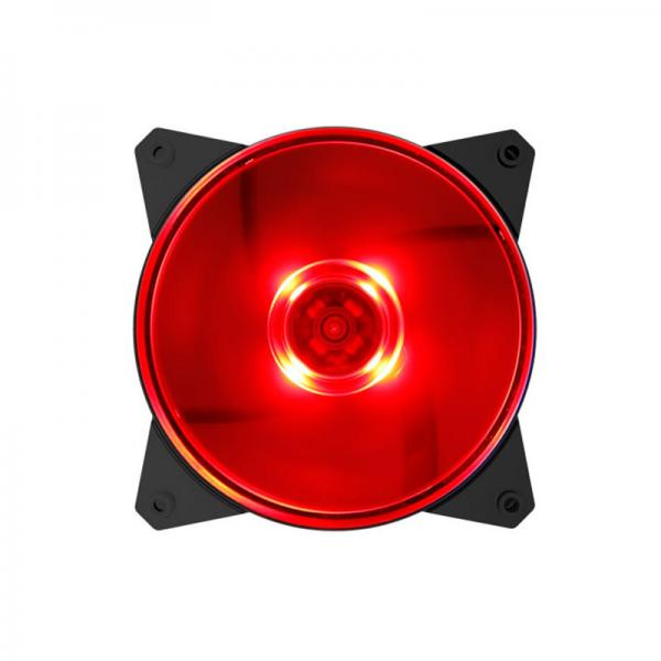 COOLER MASTER MASTERFAN MF120L - 120MM Cabinet Fan With Red LED