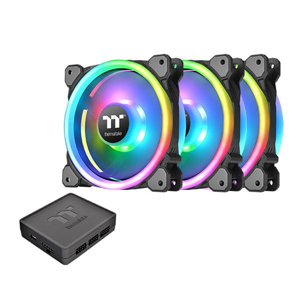 Thermaltake Riing Trio 12 RGB TT Premium Edition - 120MM Cabinet Fan With RGB Controller (Tripple Pack)