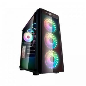 CIRCLE ELIMINATOR X1 (ATX) Mid Tower Cabinet - With Tempered Glass Side Panel And Remote Control RGB Fan