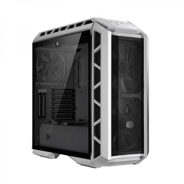 Cooler Master Mastercase H500p Mesh E Atx Mid Tower Cabinet With Tempered Gl Side Panel Rgb Controller White