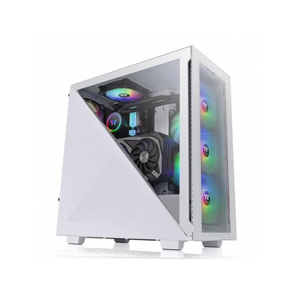 Thermaltake Divider 300 TG Snow ARGB Mid Tower Cabinet (White)
