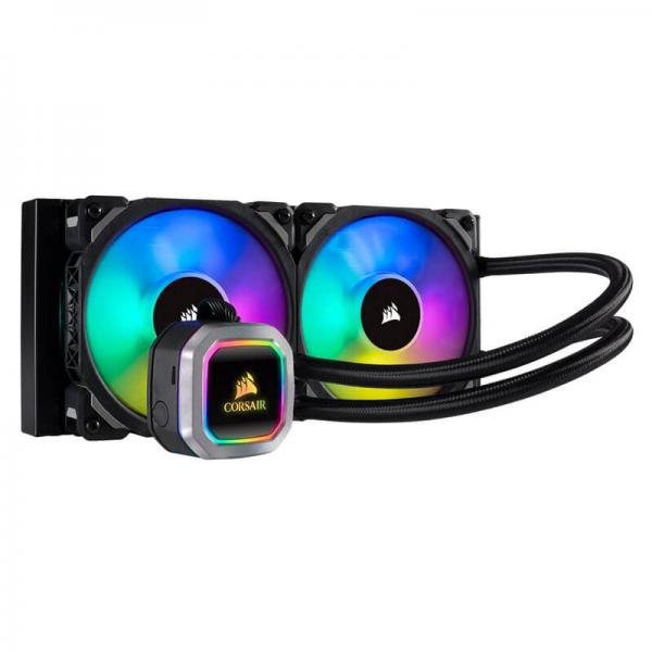 Corsair Hydro Series, H100i RGB PLATINUM, 240mm Radiator, Dual 120mm ML Series PWM Fans, RGB Lighting and Fan Control with Software, Liquid CPU Cooler