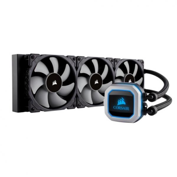 Corsair Hydro Series, H150i PRO RGB, 360mm Radiator, Triple 120mm ML Series PWM Fans, Advanced RGB Lighting and Fan Control with Software, Liquid CPU Cooler