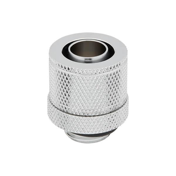 Corsair Hydro X Series XF Compression 10/13mm (3/8inch / 1/2inch) ID/OD Fittings Four Pack (Chrome)