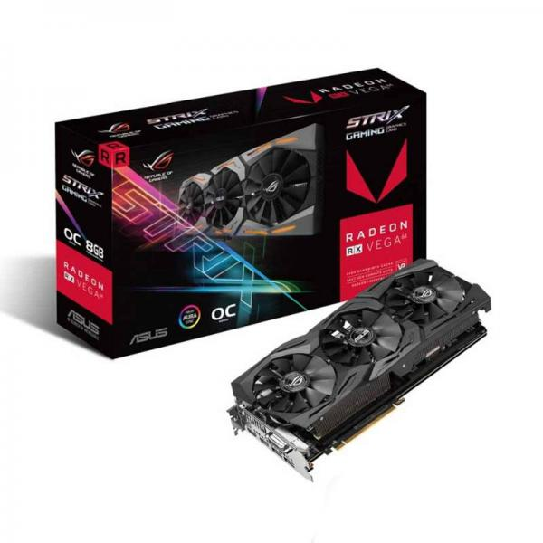 ASUS GRAPHICS CARD RX VEGA 64 8GB HBM2 ROG STRIX GAMING OC EDITION