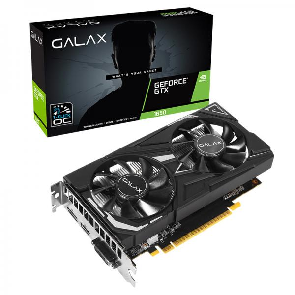 Galax GeForce GTX 1650 EX (1-Click OC) 4GB GDDR5 128-bit Gaming Graphics Card
