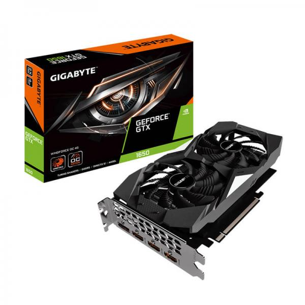 Gigabyte GeForce GTX 1650 Windforce OC 4GB GDDR5 128 Bit Gaming Graphics  Card (GV-N1650WF2OC-4GD)