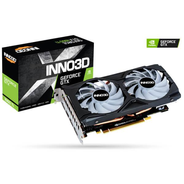 Image result for Inno3D NVIDIA Gaming GeForce GTX 1660 TI Twin X2 6GB GDDR6 Graphic Card