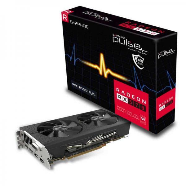 SAPPHIRE GRAPHICS CARD RADEON RX 570 4GB GDDR5 PULSE OC (11266-04-20G)