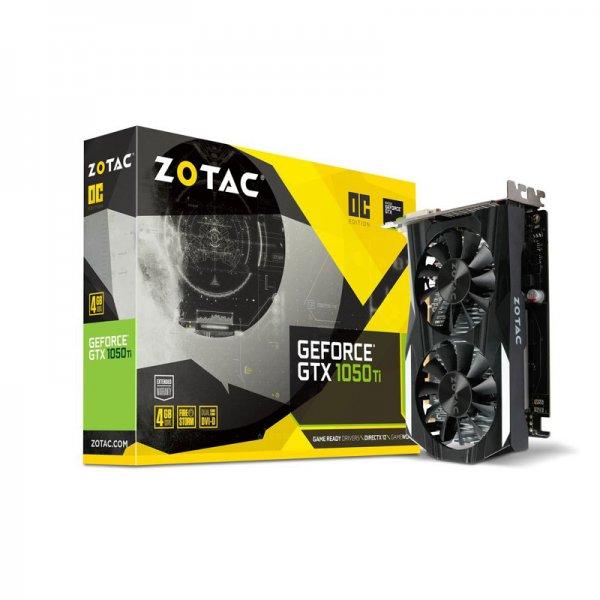 Zotac Graphics Card Pascal Series GTX 1050 TI 4GB GDDR5 OC With 2 DL-DVI  (ZT-P10510G-10L)