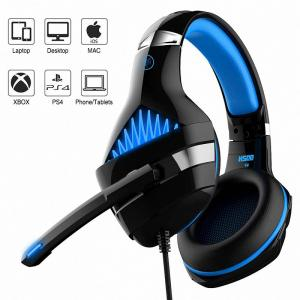 Ant Esports H500 Stereo Gaming Over Ear Headset With Mic (Black Blue)