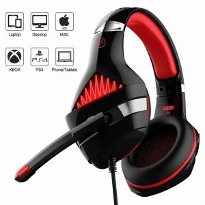 Ant Esports H500 Stereo Gaming Over Ear Headset With Mic (Black Red)