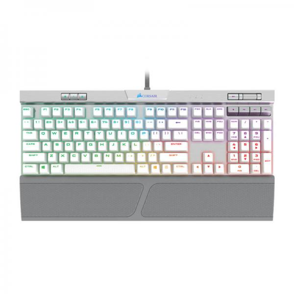 Corsair K70 RGB MK 2 SE Mechanical Gaming Keyboard Cherry MX Speed Switches  With RGB Backlight (White)