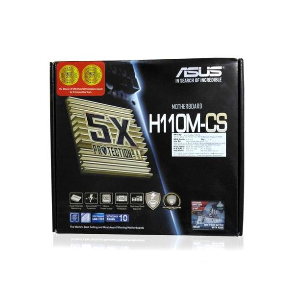 ASUS H110M-CS Motherboard (Intel Socket 1151/7th and 6th Generation Core Series CPU/Max 32GB DDR4 2400MHz Memory)