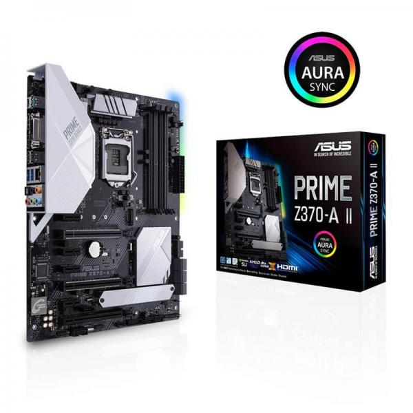 Asus Prime Z370-A II Motherboard (Intel Socket 1151/9th And 8th Generation  Core Series CPU/Max 64GB DDR4 4000MHz Memory)