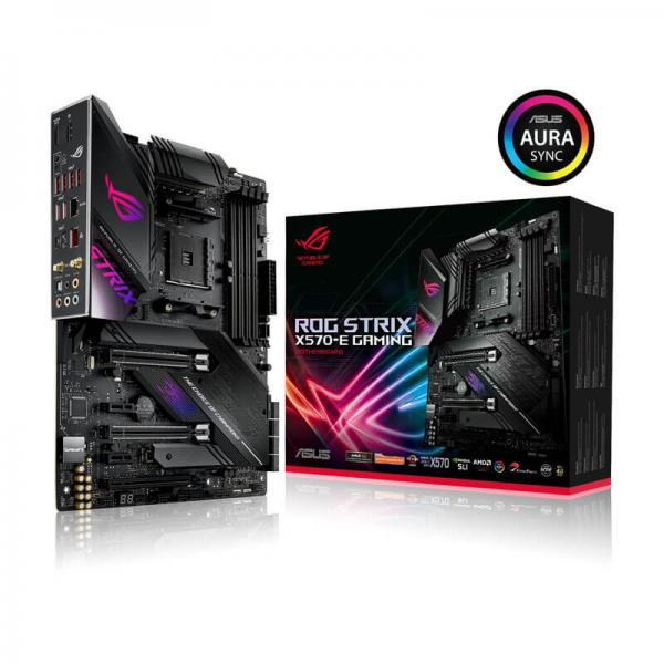 Asus Rog Strix X570-E Gaming (Wi-Fi) Motherboard (Amd Socket AM4/Ryzen  Series CPU/Max 128GB DDR 4400MHz Memory)