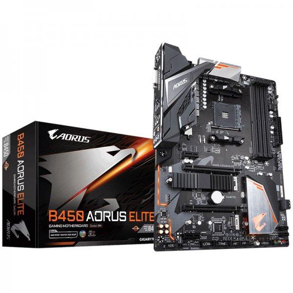 GIGABYTE B450 AORUS ELITE Motherboard (Amd Socket AM4/Ryzen 2nd Gen Series  CPU/Max 64GB DDR4-3200MHz Memory)