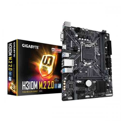 GIGABYTE H310M M.2 2.0 Motherboard (Intel Socket 1151/9th and 8th Generation Core Series CPU/Max 32GB DDR4 2666MHz Memory)