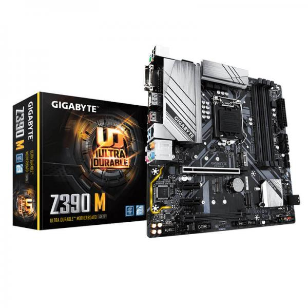 Gigabyte Z390 M Motherboard (Intel Socket 1151/9th And 8th Generation Core  Series CPU/Max 128GB DDR4 4266MHz Memory)