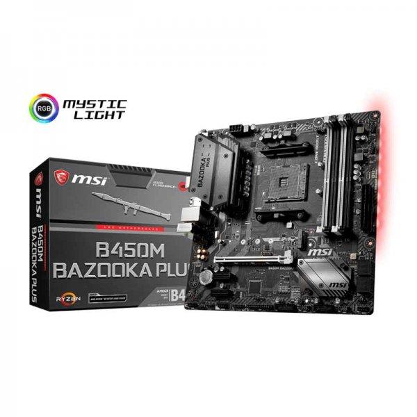 Msi B450M Bazooka Plus Motherboard (Amd Socket AM4/Ryzen Series CPU/Max  64GB DDR4 3333MHz Memory)