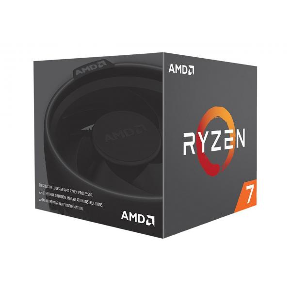 AMD RYZEN 7 2700 2nd Generation Desktop Processor With Wraith Spire Cooling Solution RGB LED - (8 Core, Up To 4.1 GHz, AM4 Socket, 20MB Cache)