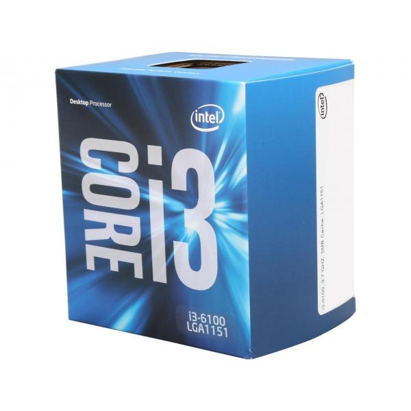 Intel® Core™ i3-6100 Desktop Processor 2 Core 3.7GHz LGA1151 200 Series 51W BX80662I36100