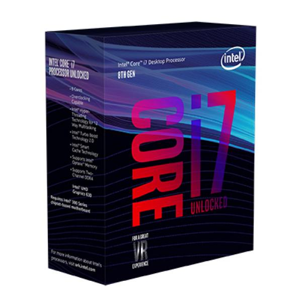 Intel® Core™ i7-8700K Desktop Processor  6 Core up to 4.7GHz Turbo Unlocked LGA1151 300 Series 95W BX80684i78700K