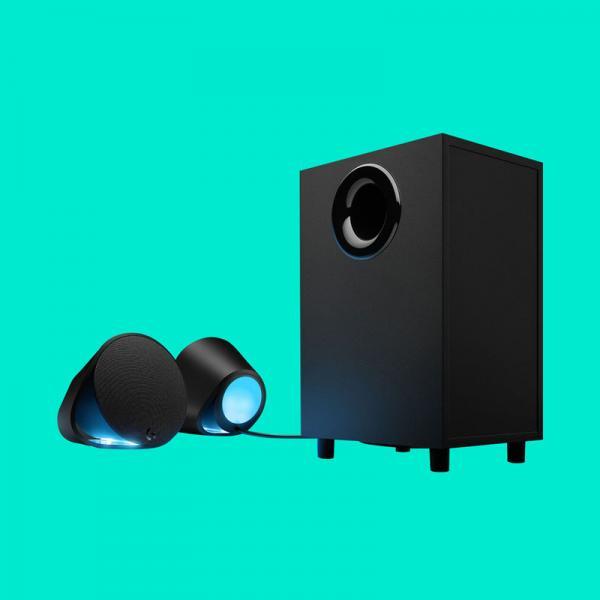 Logitech G560 RGB 2 1 Speaker (240W Peak, 7 1 DTS:X ULTRA Surround Sound,  With Subwoofer)