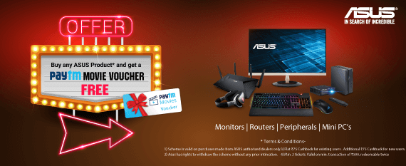 Buy ASUS Gaming Product & Get Paytm Gift Cupon Free - Mdcomputers.in