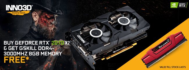 Buy Inno3d GeForce RTX 2070 TWIN X2 N20702-08D6-1160VA22 at Lowest Price in India mdcomputers.in