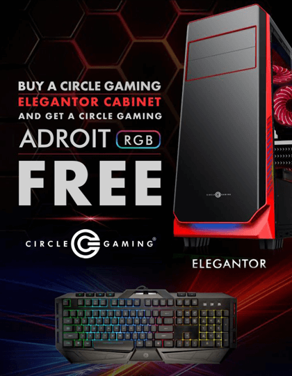 Buy Circle Gaming ELEGANTOR Case & get ADROIT RGB Free