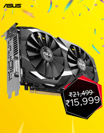 Anniversary Offer: Asus RX 580 Dual Oc at Lowest Price in India