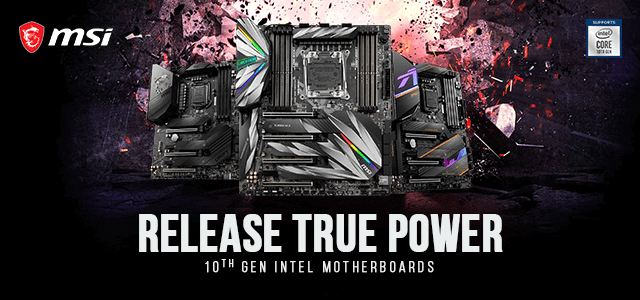 MSI Intel 10th Gen Motherboards