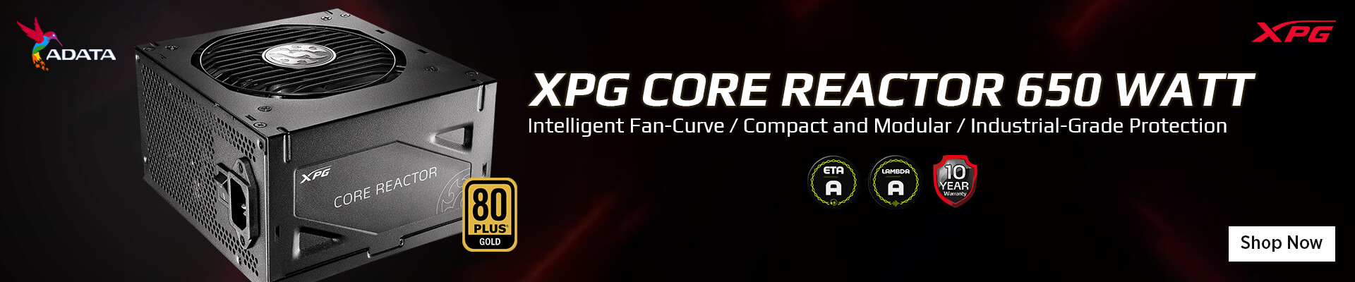 Adata XPG Core Reactor 650 Watt 80 Plus Gold SMPS