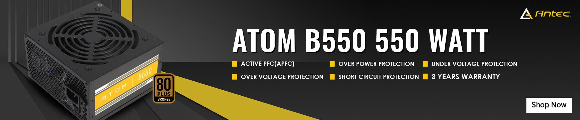 Antec ATOM B550 550 Watt 80 Plus Bronze