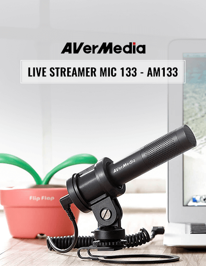 Buy AVerMedia Live Streamer MIC 133 Microphone (AM133) at Best Price in India.