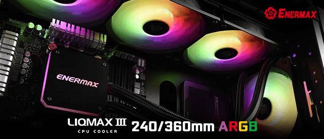 Enermax Liqmax III 240 and 360 ARGB