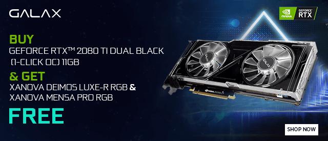 Buy Galax RTX 2080 TI Dual Black RGB (1-Click OC) at Best Price in India