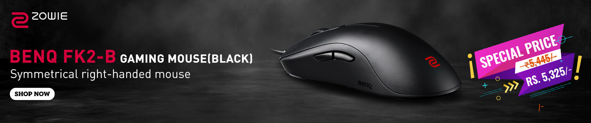 BenQ Zowie FK2-B Gaming Mouse (Black)