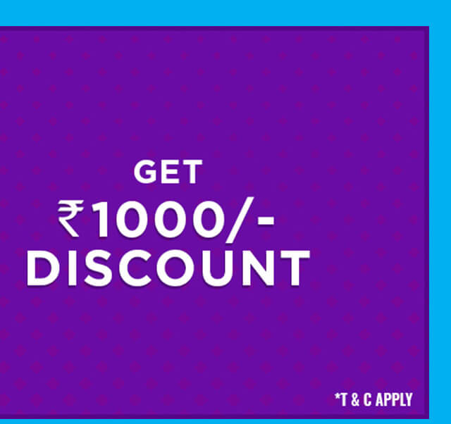 Rs. 1000/- Discount
