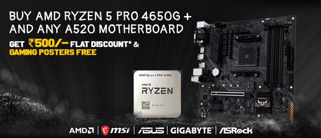 AMD Ryzen 5 Pro 4650G - A520 Motherboard Offer