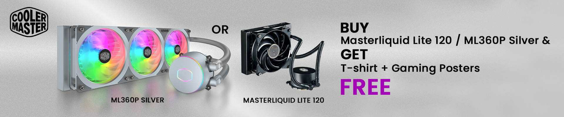 Cooler Master Masterliquid Lite 120 and ML360P Silver Offer