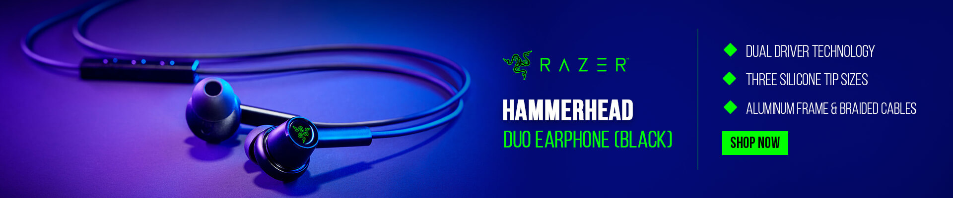 Razer Hammerhead Duo Earphone (Black)