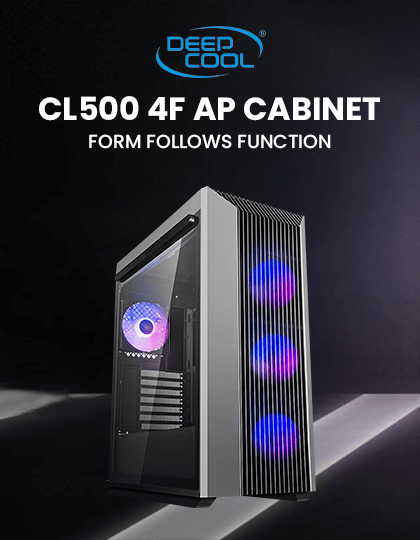 Buy Deepcool CL500 4F AP Cabinet (Black) at Best Price in India.